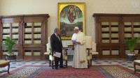 Stand for peace and harmony says Guterres, following meeting with Pope Francis
